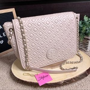Tory Burch Marion Quilted Lambskin Chain Flap Bag